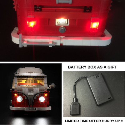 with battery box+Led Light Kit Only For Lego 10220 The Volkswagen T1 Camper Van