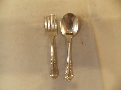Wm A Roger Oneida Child's Fork & Spoon Set, Excellent Condition, Pre-Owned