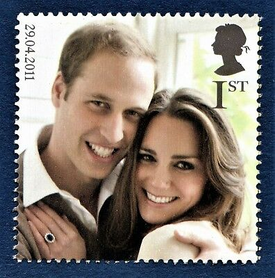 His Royal Highness Prince William and Miss Catherine Kate Middleton on a Stamp