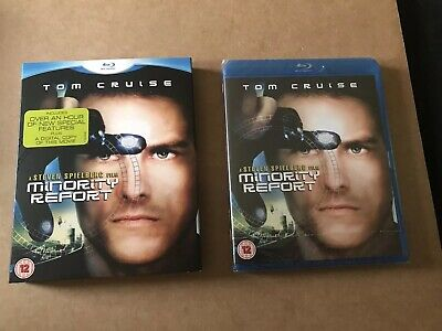 Minority Report Blu Ray With Slipcase New & Sealed Tom Cruise Steven Spielberg
