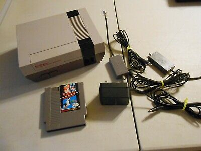 Nintendo Entertainment System NES W/ Cords and Mario Bros. TESTED WORKING
