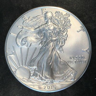 2016 Uncirculated American Silver Eagle US Mint Issue 1oz Pure Silver #H243