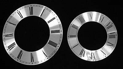 New Silver Time Ring Clock Dial with Roman Numbers - 2 Choices! (C-685)