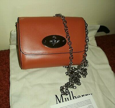 MULBERRY SMALL MINI Lily Size Bayswater Belt Bag Oak Silky Snake ... 7d36e9650a39a