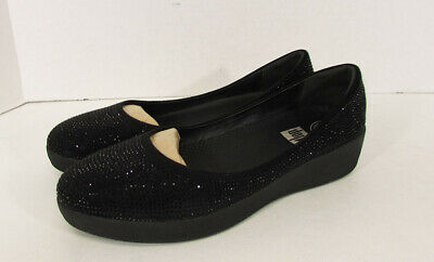 e6b45f63847af7  125 FITFLOP WOMENS Superballerina Snake Embossed Flat Shoes