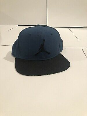 3bbc0d388ad MEN AIR JORDAN Jumpman SnapBack Adjustable Hat Blue Black  Z 861452 ...