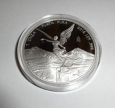 2016 Mexico Libertad 1 oz Silver Proof Coin In Capsule