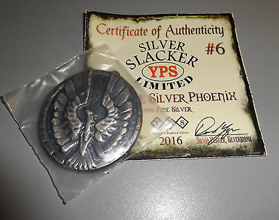 YPS Yeager Poured 4 oz THE SILVER PHOENIX Slacker Limited of 200 Made 2016 COA