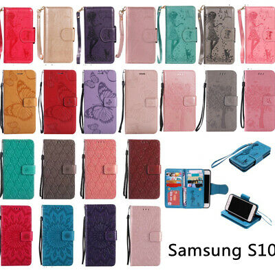 CASE FOR SAMSUNG S10 S10Plus S10e Embossing Leather Wallet
