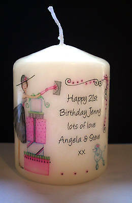 personalised 18th 21st birthday candle present keepsake gift celebration party