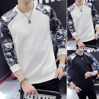 Fashion Casual Sleeve Warm Pullover Jumper Sweater Winter Men Long Tops Neck