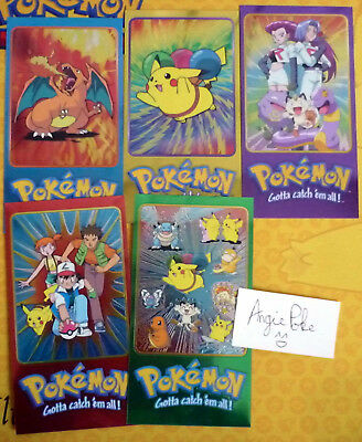 Lot 5 Cartes Pokemon Pikachu Dracaufeu Team Rocket Miaouss Sacha NEUF Topps Abo