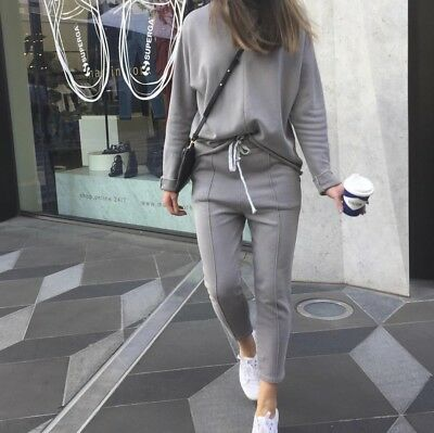 CAMILLA AND MARC C&M || Grey Shawn Crew Jumper And Sweat Pants Set