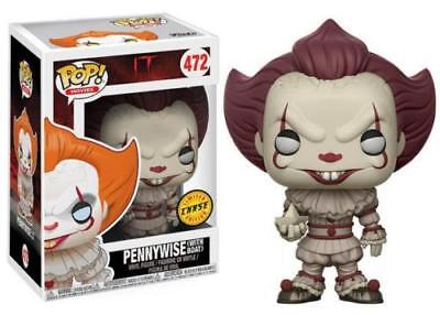FUNKO POP IT Pennywise (with boat) #472 CHASE LIMITED EDITION ITALIA VALUTED