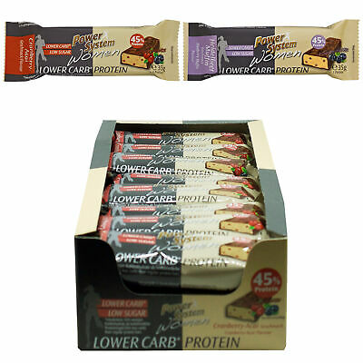 Power System Women LOW er CARB Riegel 45% Protein (35g)