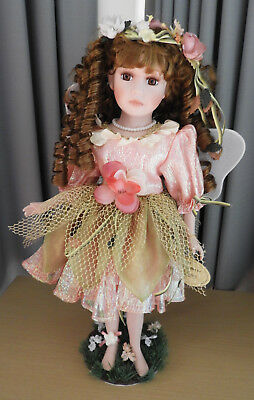 Copperart Porcelain Fairy Doll With Stand - My Name Is Jasmine