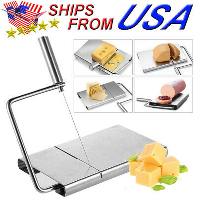 Cheese Butter Slicer Cutter Board Cutting Kitchen Hand Tool Stainless Steel Wire