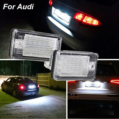 2PCS LED License Plate Lights Lamps for Audi A3 A4 B6 B7 A6 A8 Q7 A5 Error Free