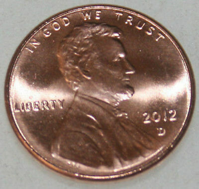 2012-D Lincoln Shield Cent Uncirculated BU Red Penny