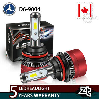 9004 HB1 LED Headlight Bulbs Xenon Hi/Lo Beam DOT Approved White Driving Lamp
