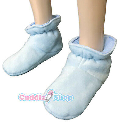 Cuddlz Fleece Adult Sized Padded Booties Choice of Fabric Colour or Pattern