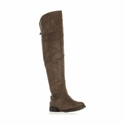 e3ad88ee48a AMERICAN RAG WOMEN S Adarra Wide-Calf Over The Knee BootsTaupe Suede ...