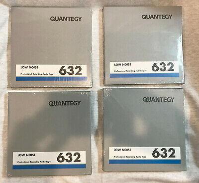 """4 x QUANTEGY 632 RECORDING 1/4"""" AUDIO TAPE 7"""" reel. SEALED NEW IN BOX FREE SHIP!"""