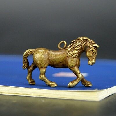 Chinese old collection handwork bronze Zodiac horse statue Pendant