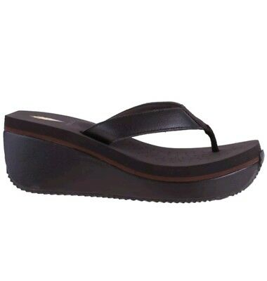 4c0caf0dc5a44 Women s Volatile FRAPPACHINO Brown Slip On Flip Flop Wedge Thong Sandal  Shoes