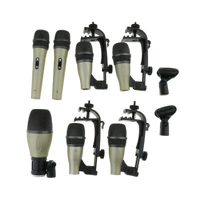 Practical XLR Plug Dynamic Microphone Set for Bass/Tom/Snare Drum Cymbals