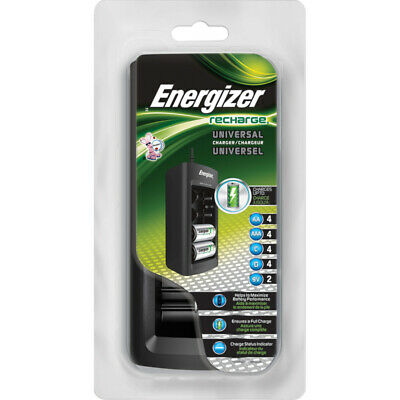 Energizer Recharge Universal Charger for AA, AAA, C, D, and 9V