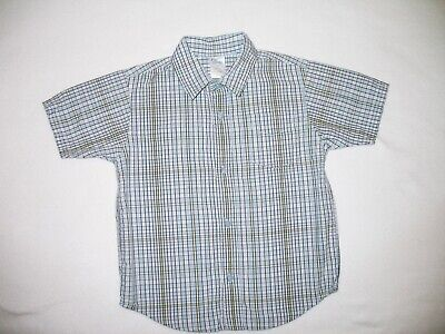 GYMBOREE Boys Oxford Button Down Shirt sz 4T Plaid Easter Spring