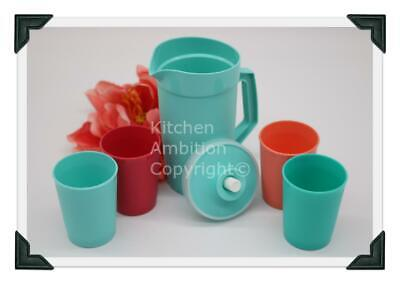 Brand New TUPPERWARE 5~PC Kids Mini Toy Beverage Set Real Pitcher & Cups  #B13
