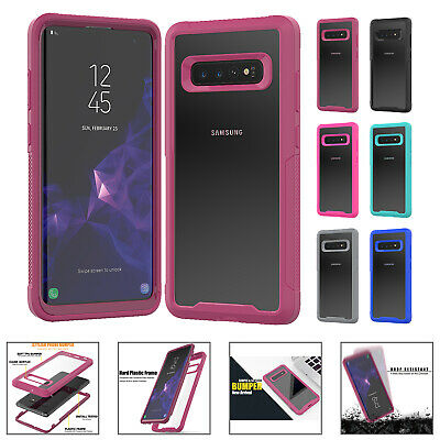 Fr Samsung Galaxy S10 Plus S10e S10 Case Clear Shockproof Hard Silicone PC Cover