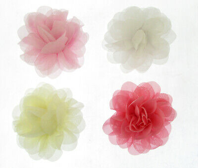 10cm Large Ruffled Flower Hair Clips Bobbles clip & brooch bridesmaids