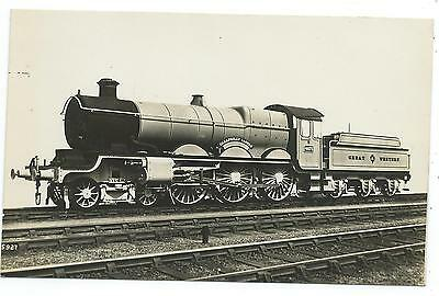 GREAT WESTERN RAILWAY - Steam Loco no.4073 CAERPHILLY CASTLE Real Photo Postcard