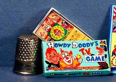 Dollhouse Miniature 1:12 Howdy Doody TV Game 1950s retro Dollhouse game toy