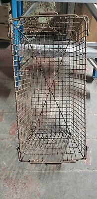 Primitive Vintage EXTRA LARGE Rusty Wire Basket Handles Metal