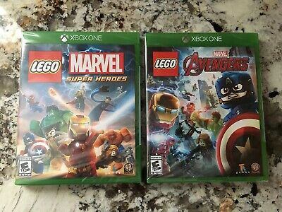 Lego Marvel Super Heroes Avengers Xbox One 2 Game Lot Brand New