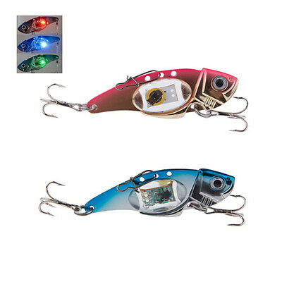 Deepwater Fishing LED Fish Lure Bait Light Flashing Lamp Tackle Hooks Outdo BS