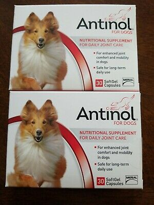 Antinol 30 count x 2 for Dogs for Daily Joint Care (60 Gel Capsules)
