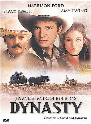 James Michener DYNASTY rare Western dvd HARRISON FORD Amy Irving '80s