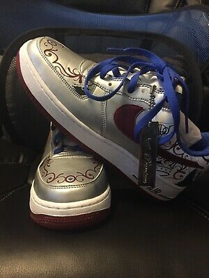 0dce905c9fe0 Nike Air Force 1 Premium Lebron Collection Royal Silver Size 8 313985 061
