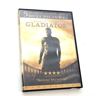 Gladiator Single Disc Widescreen Edition DVD Blockbuster Case Russell Crowe