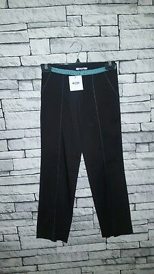 Age 9-10 Year Old Girls BNWT Moschino (36) Black Tape Waistband Trousers RRP £54