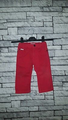 Baby Boy Girl 18 Month Old Hugo Boss Red Slim Fit Jeans Trousers Chinos