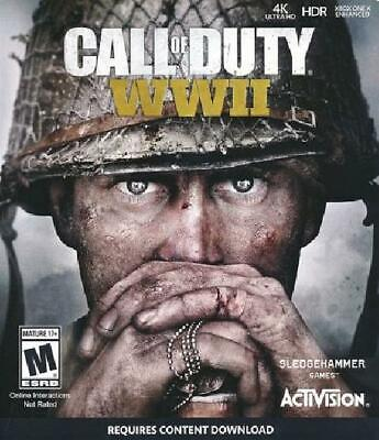 Call of Duty WWII Xbox One NM Complete Xbox One Game