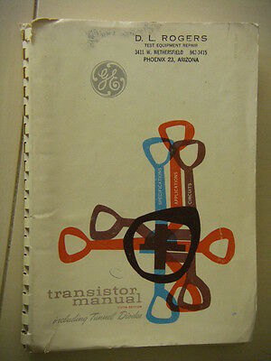 Vintage GENERAL ELECTRIC TRANSISTOR MANUAL 1960 Fifth Edition Softcover