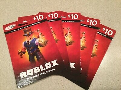 ROBUX GIFT CARDS for ROBLOX   PHYSICAL CARDS   LOT of 5 X $10 = $50 Value