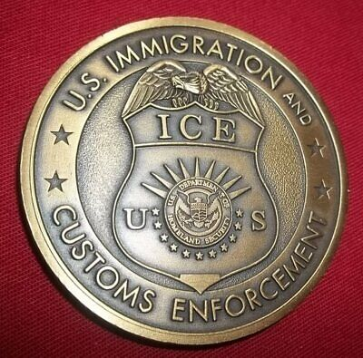 Immigration   Customs Enforcement US Department Of Homeland ICE Coin  Security QQ 75f7cefe1ae6